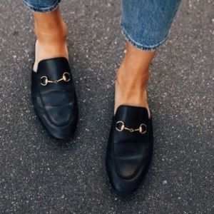 Gucci Princetown Leather Mule - authentic